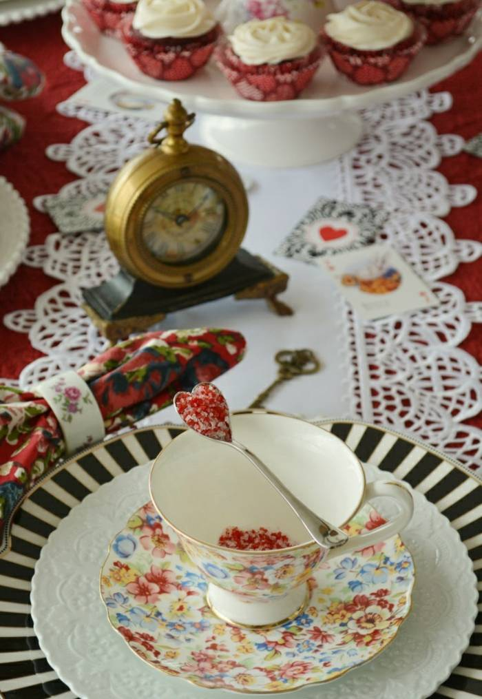 mesa centro primavera taza te lujosa ideas