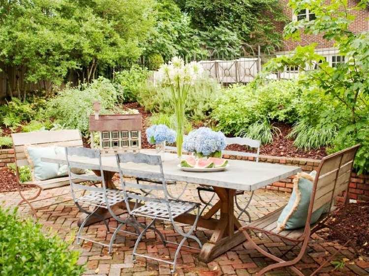 mesa comedor jardín rustico