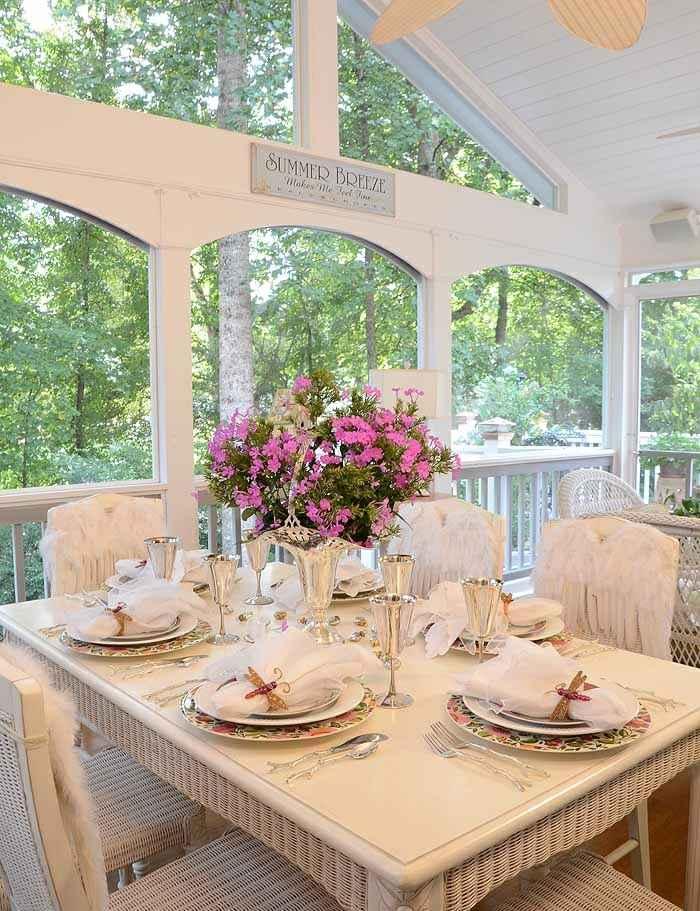 mesa dulce centro primavera plata pulido flores ideas