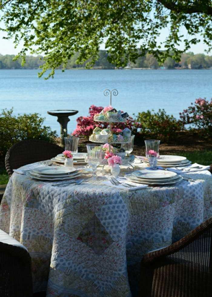 mesa dulce centro primavera plato pisos blanco ideas