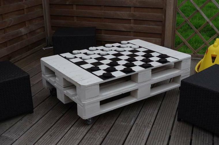 mesa ajedrez diseño casero