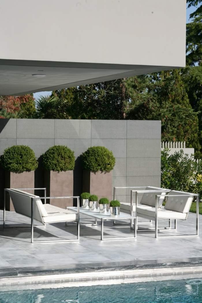 metales jardines iconos frances piscinas