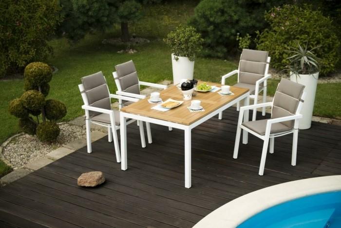 mobiliario terrazas gravas blancas piscinas