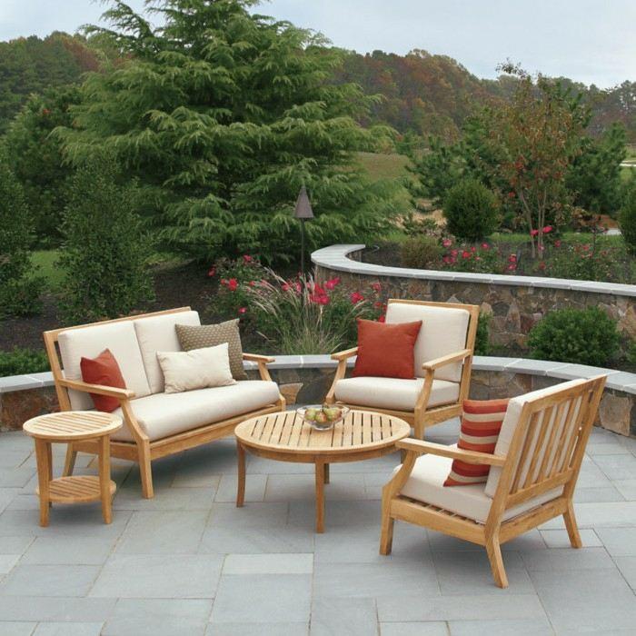 mobiliario terrazas madera conceptos suelos cojines
