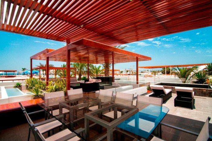 mobiliario terrazas paneles conceptos aluminio listones