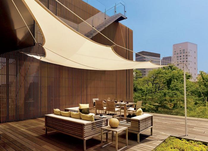 mobiliario terrazas paneles conceptos edificios