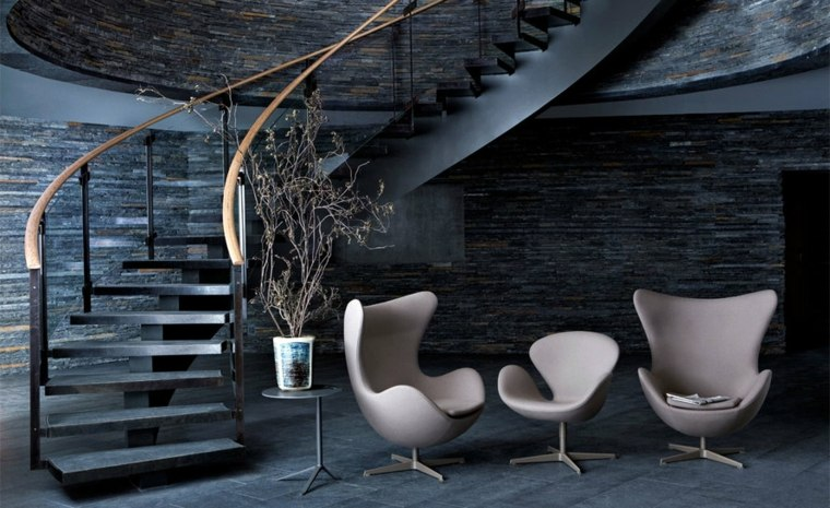modernos interiores estilos salones escalones