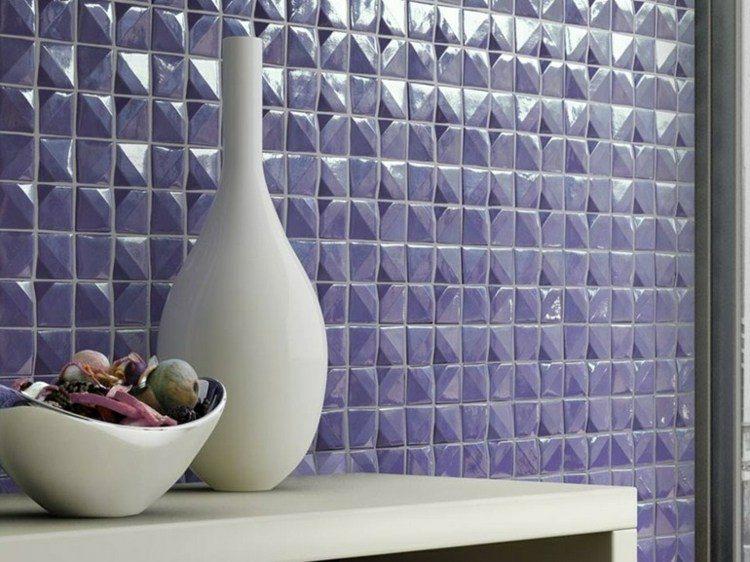mosaico de color violeta