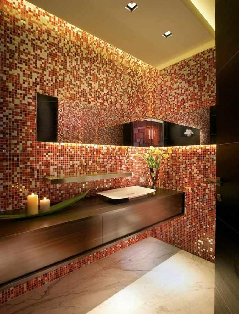 Mosaicos 115 dise os de ba os atractivos y coloridos - Mosaico de madera ...