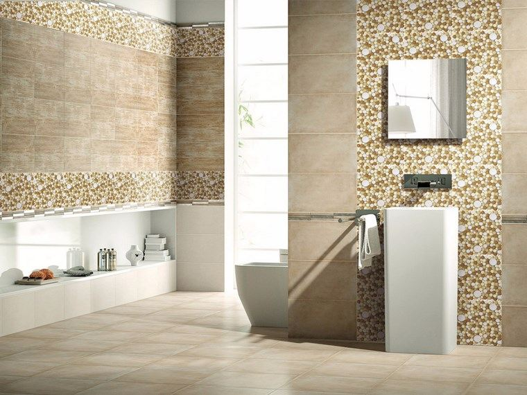 Mosaicos 115 dise os de ba os atractivos y coloridos - Diseno de azulejos para bano ...