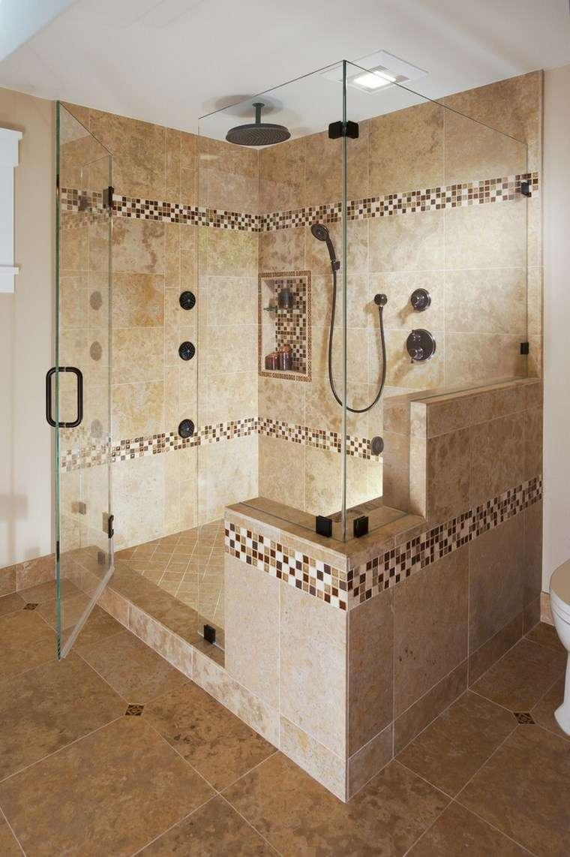 mosaicos bano moderno diseno decora ducha ideas