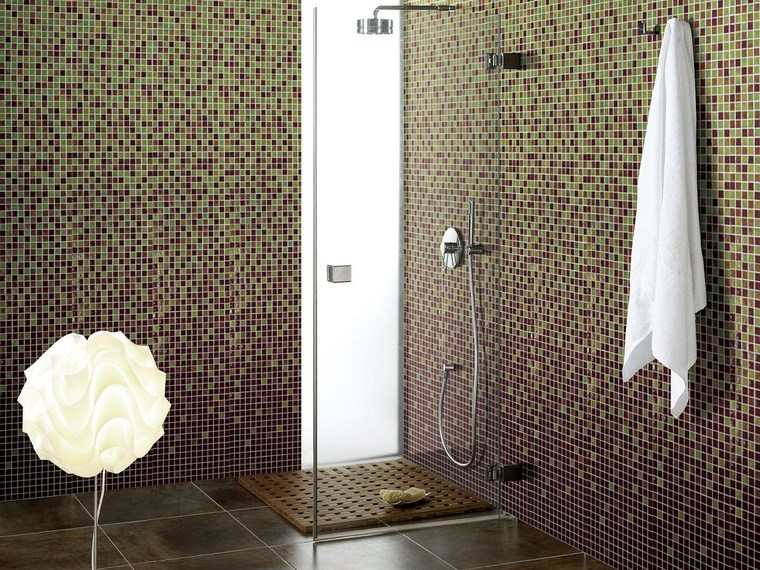 mosaicos bano moderno diseno ducha paredes preciosas ideas