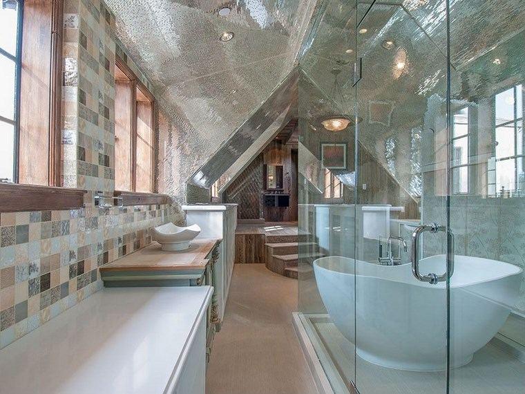 mosaicos bano moderno diseno estrecho-largo ideas