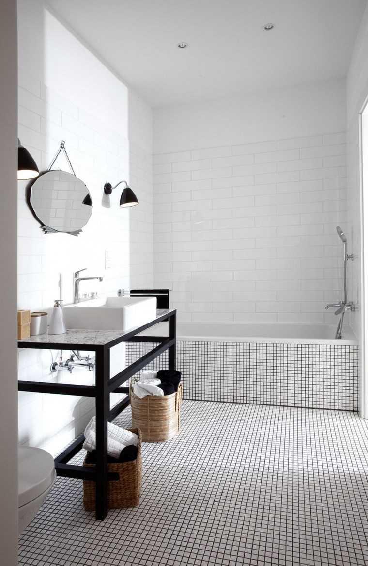 mosaicos bano moderno diseno minimalista ideas