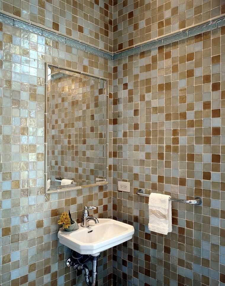 Mosaicos 115 dise os de ba os atractivos y coloridos - Paredes para banos ...