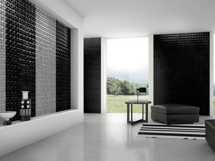 mosaicos color girs y negro