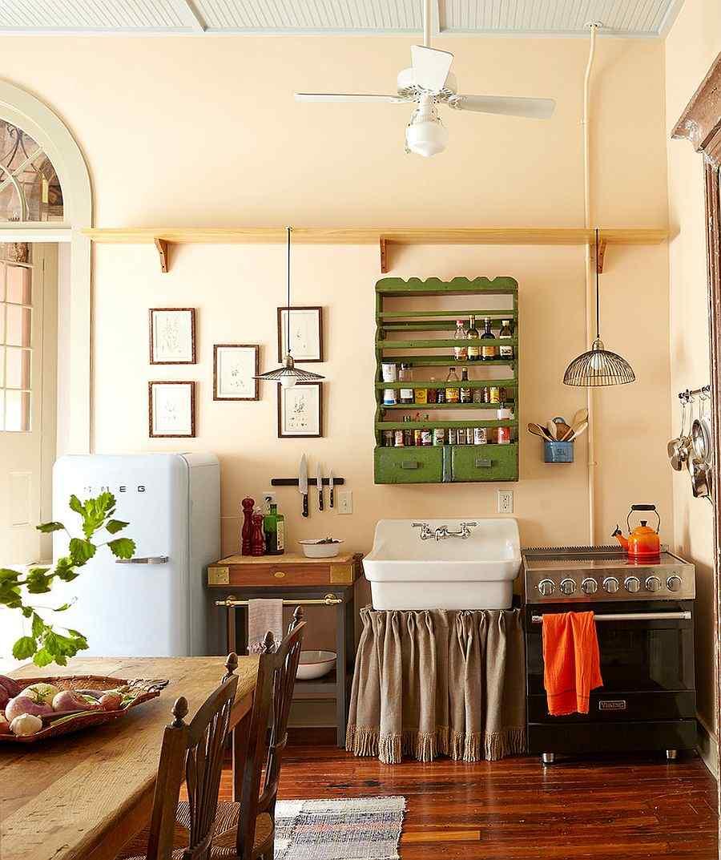 muebles cocina estantes verdes