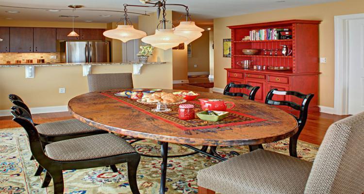mueble aparador diseño rojo