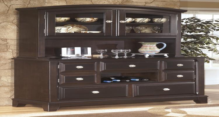 mueble aparador color marrón oscuro