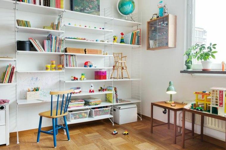 mueble estantes habitación infantil