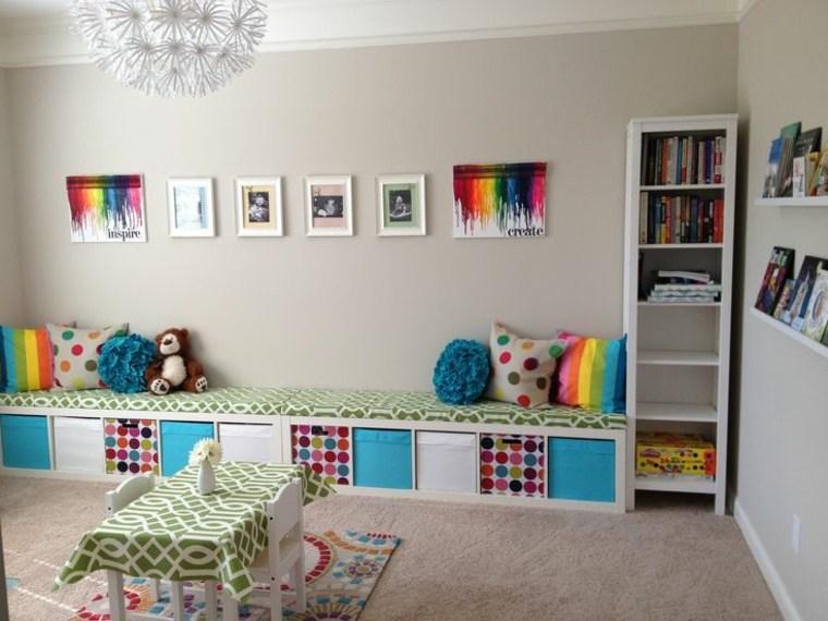 mueble estantes libros color blanco