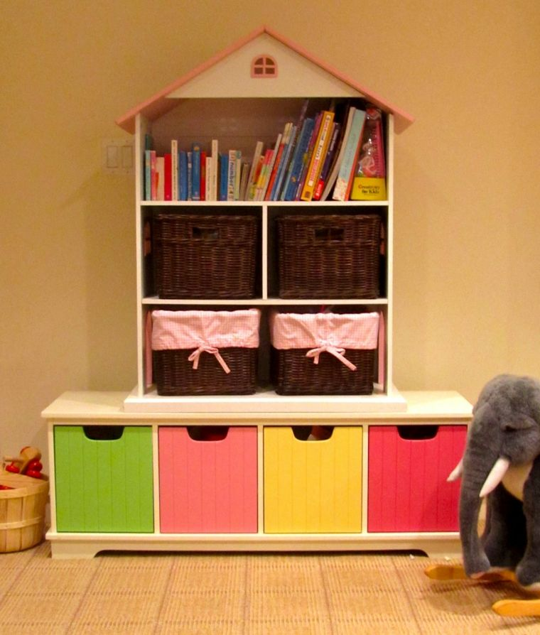 Estanter as para habitaciones infantiles 50 ideas geniales for Muebles para habitaciones infantiles