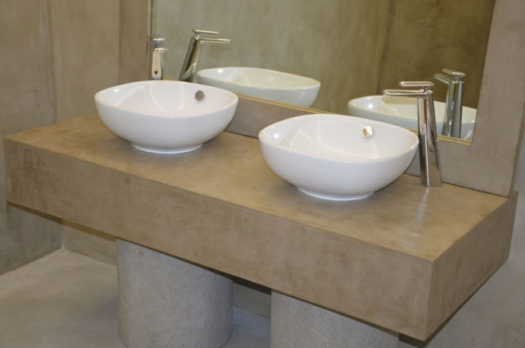 Mueble Baño Microcemento:Baños microcemento – los cincuenta diseños más interesantes -