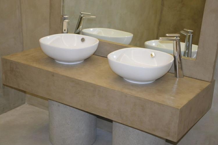 mueble lavabo microcemento moderno