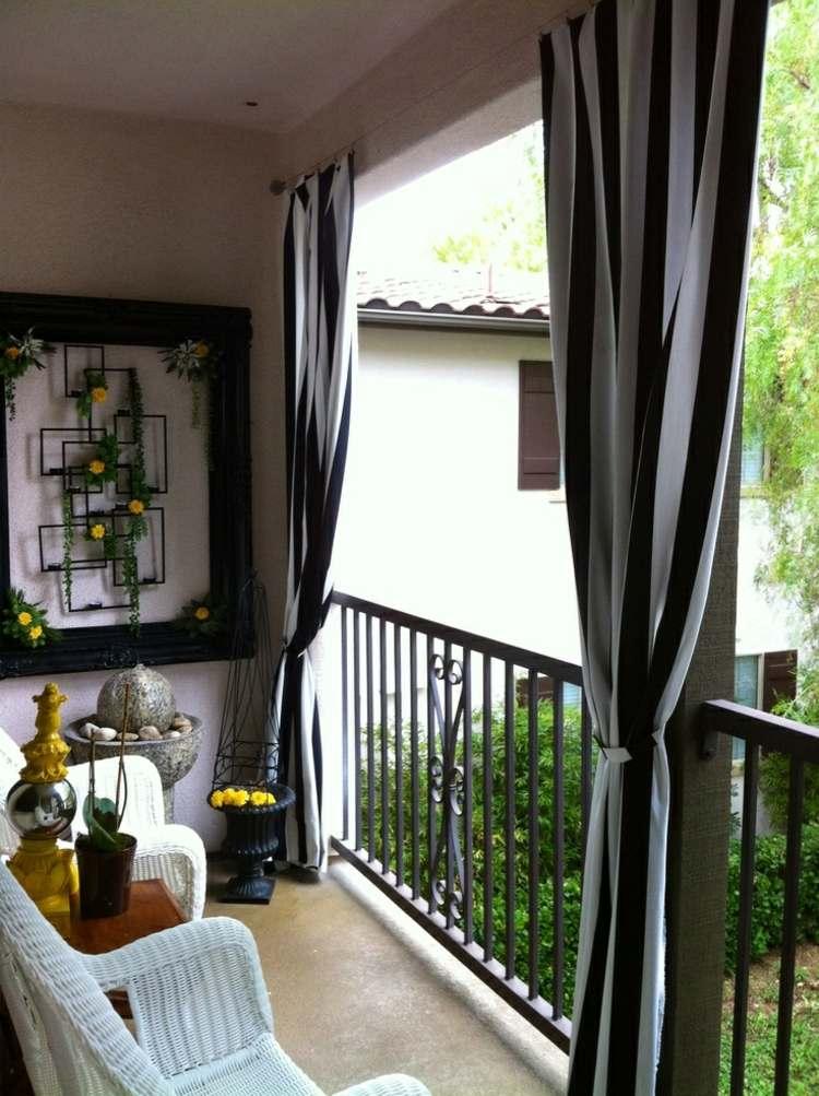muebles a medida balcon opciones cortinas negro blanco ideas