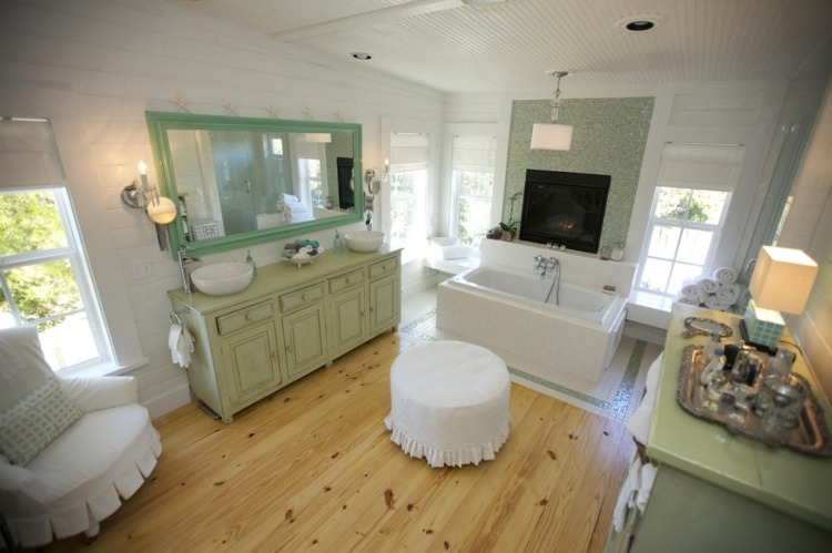 muebles baño color verde claro