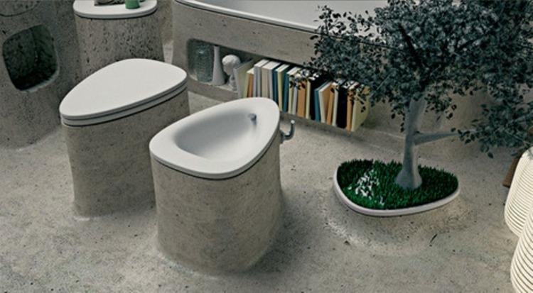 muebles baño originales concreto cemento
