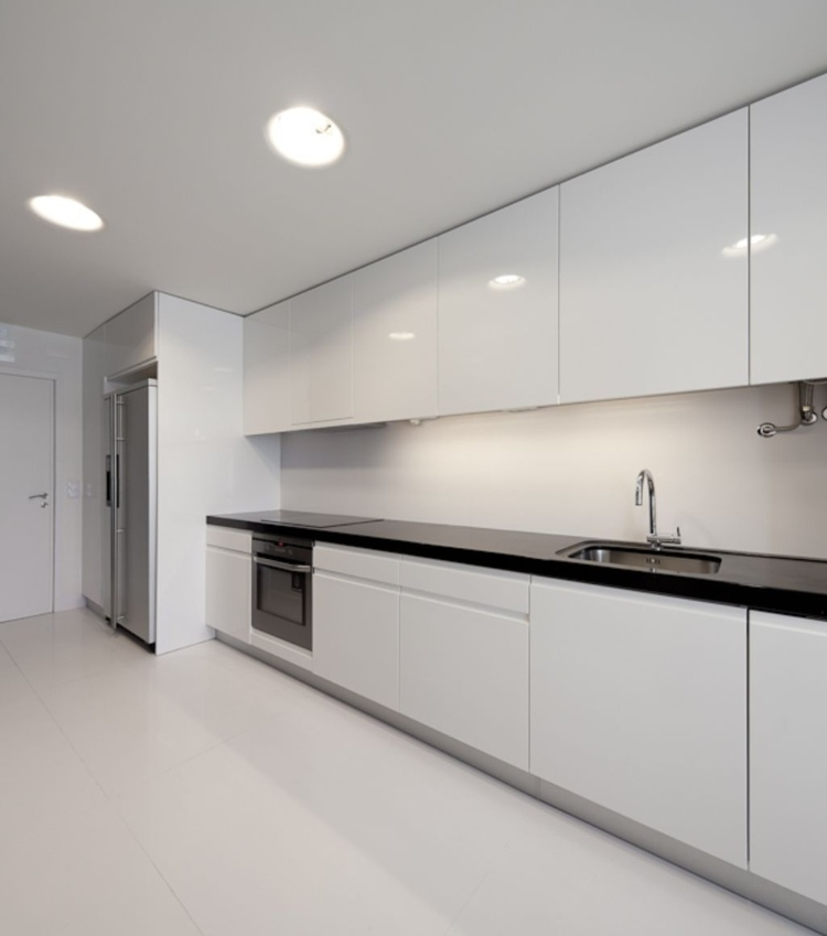 muebles cocina minimalistas blancos