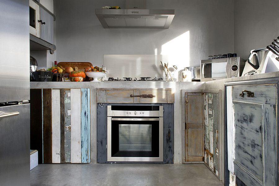 muebles de cocina aspecto desgastado