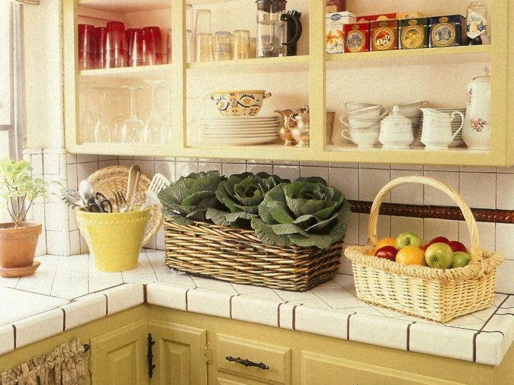 muebles cocina diseño estilo retro