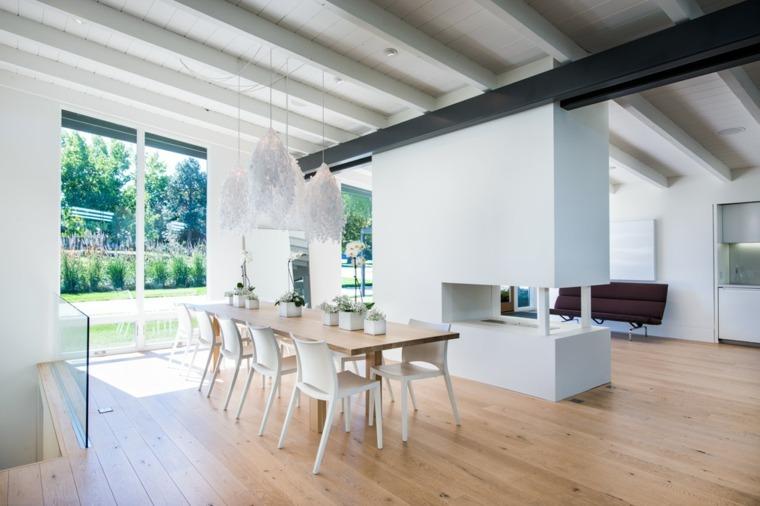 muebles de diseño comedor residencia amplia ideas