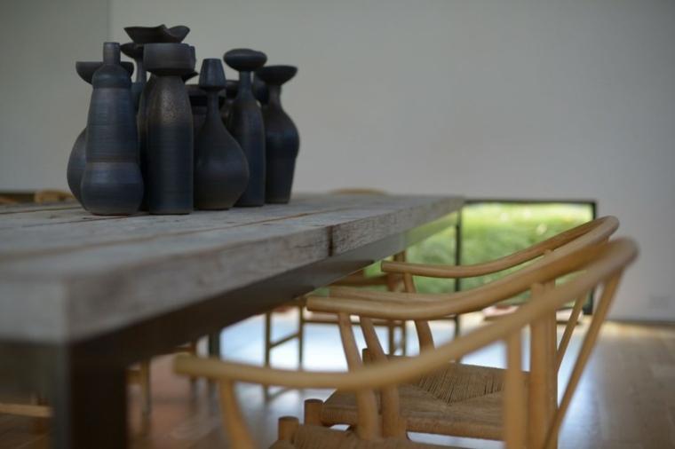 muebles de diseño comedor sillas bambu mesa madera ideas