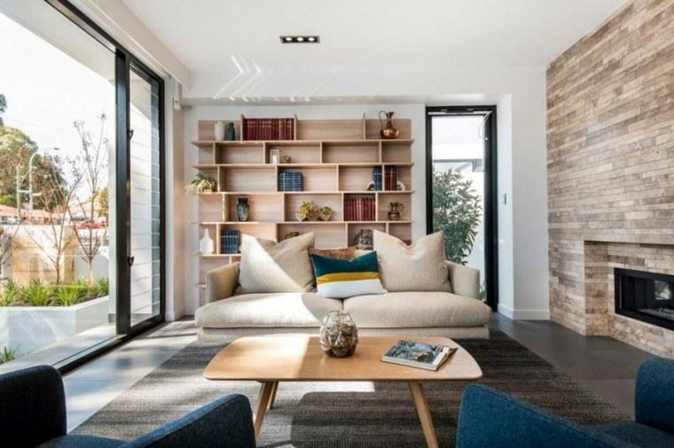 muebles de diseño estantes madera casa moderna ideas