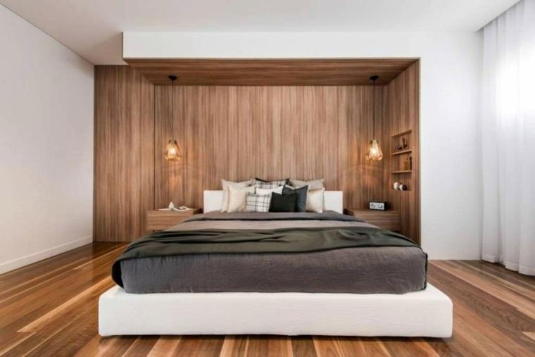 muebles de diseño cama blanca dormitorio ideas