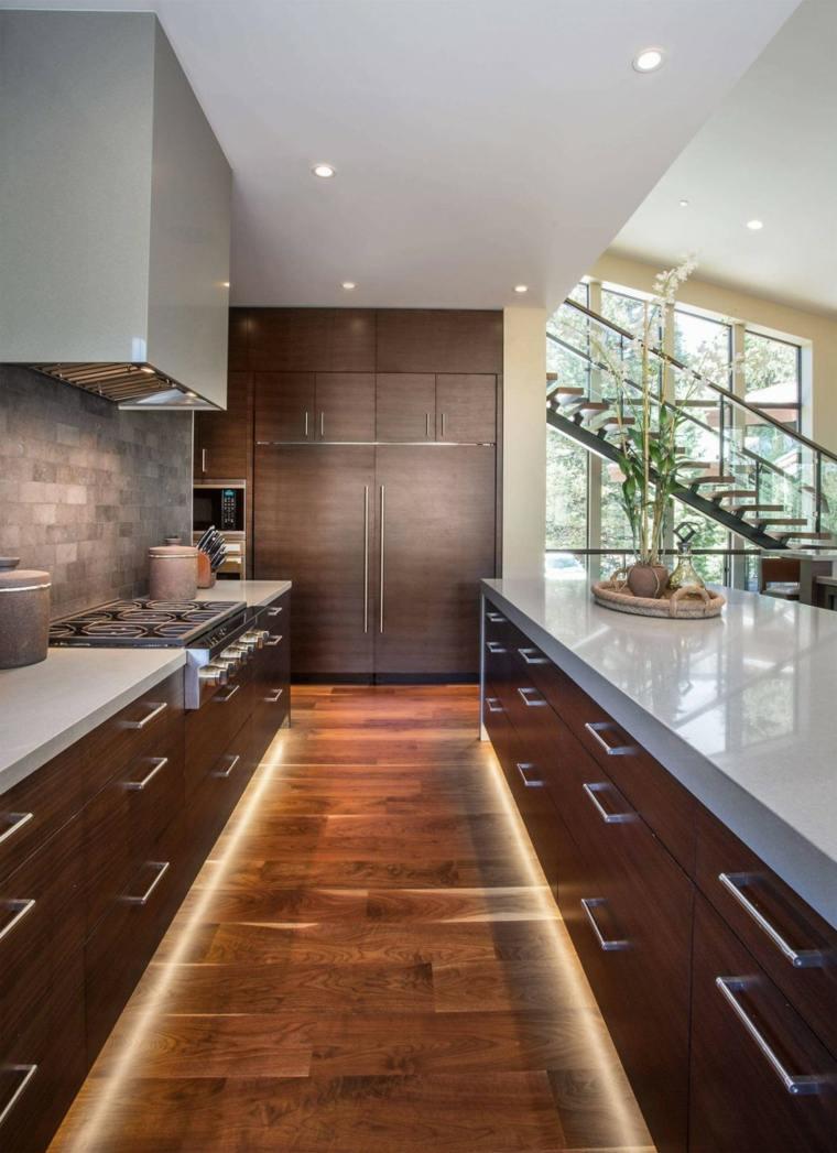 muebles de diseño cocina iluminacion LED ideas