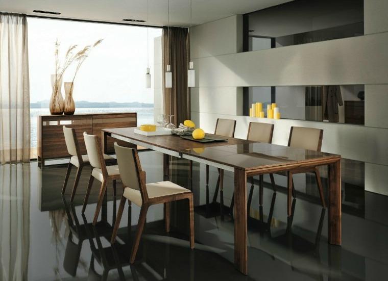 Diseos de comedores de madera beautiful mesas comedor for Comedores hierro forjado