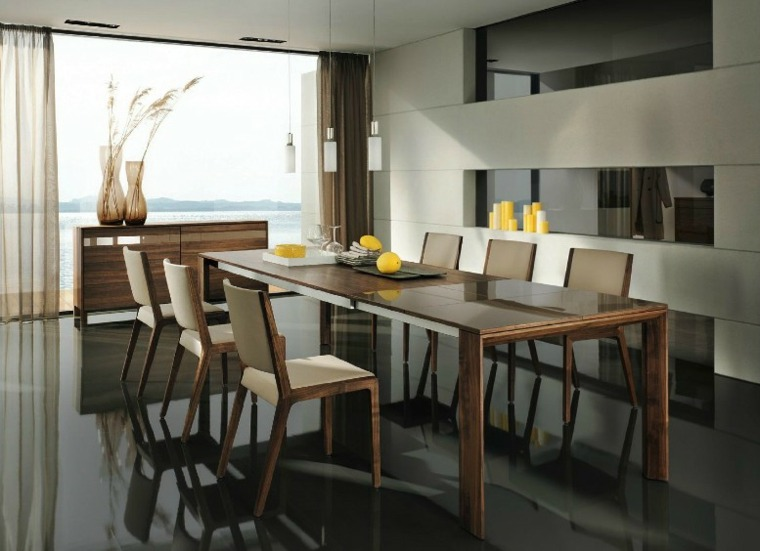 muebles diseno comedor moderno madera ideas