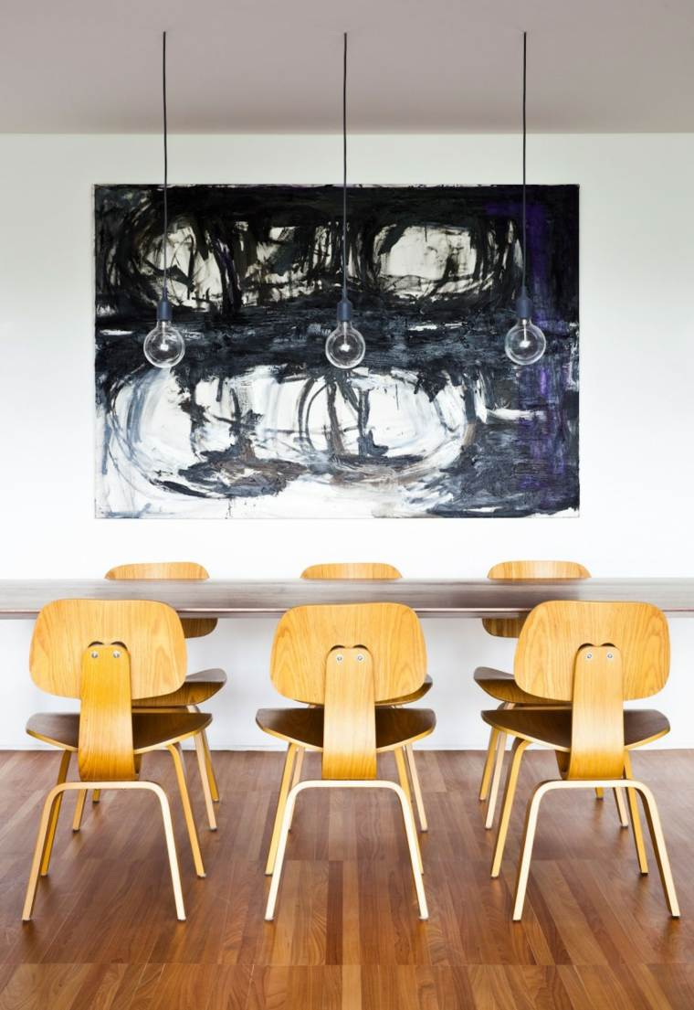 muebles diseno cuadro llamativo comedor moderno ideas