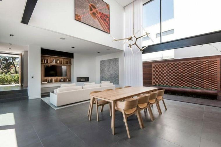 muebles diseno mesa sillas espacios amplios ideas