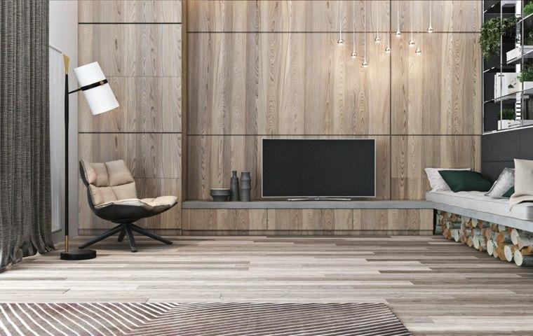 muebles diseno opciones paneles madera pared ideas