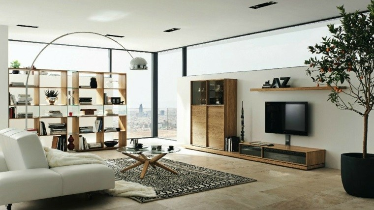 muebles diseno salon neutral moderno ideas