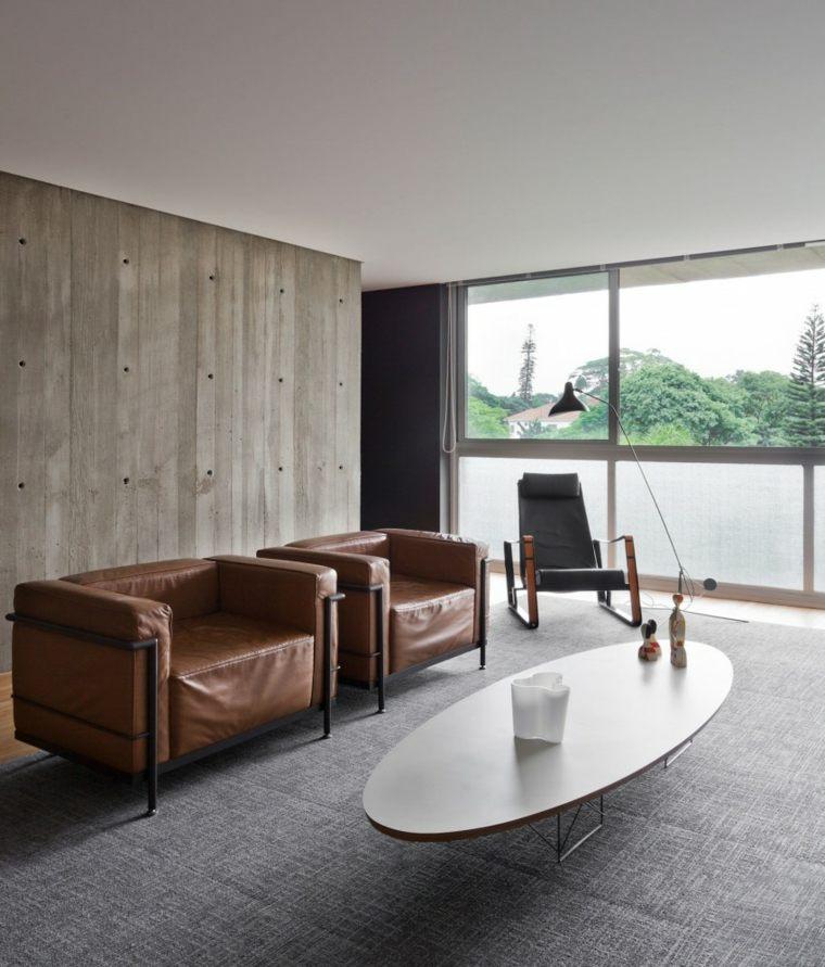 muebles diseno sillones cuero comodos ideas