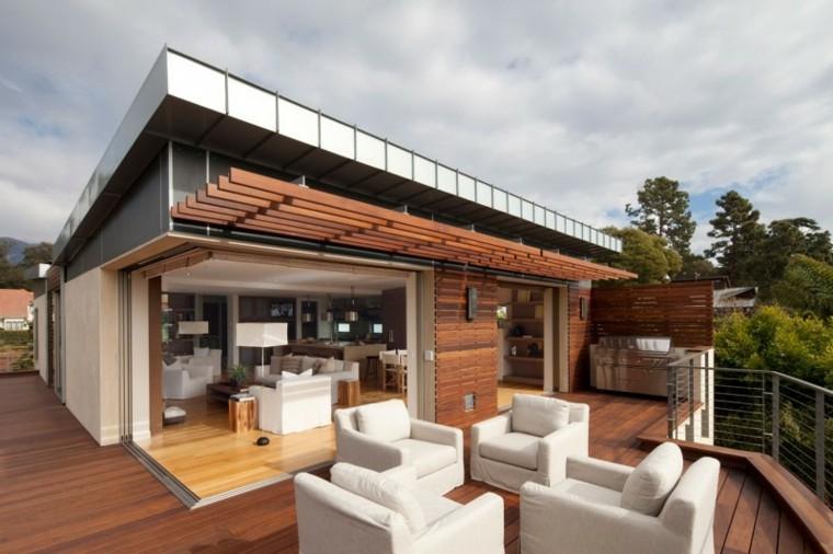 muebles el paraiso balcon moderno sillones blancos ideas