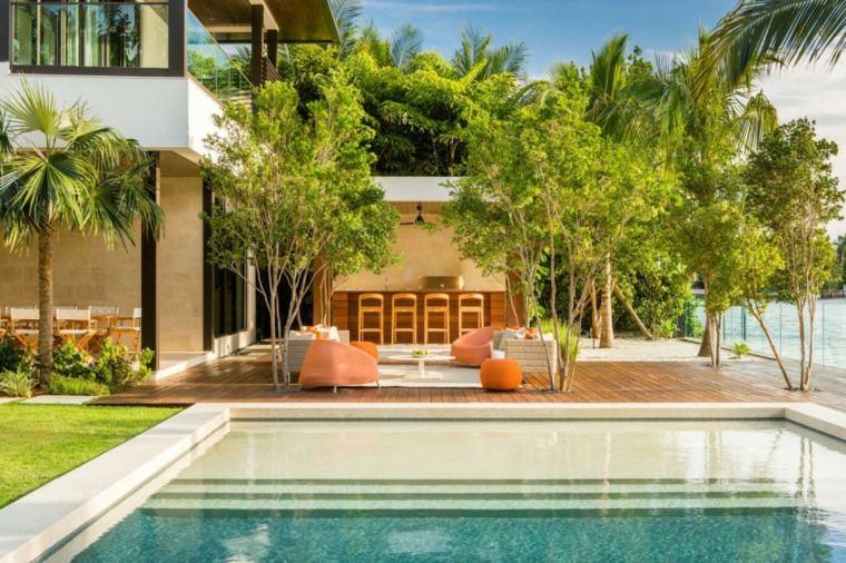 muebles el paraiso terraza moderna barra arboles suelo madera ideas
