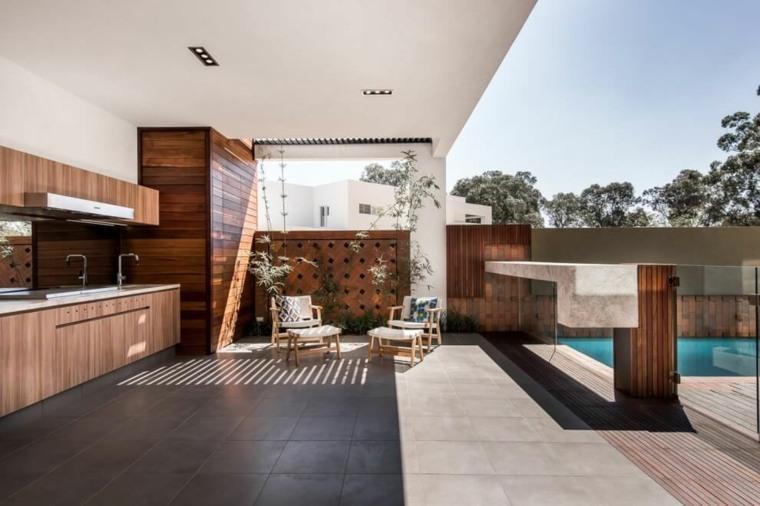 muebles el paraiso terraza moderna cocina aire libre ideas