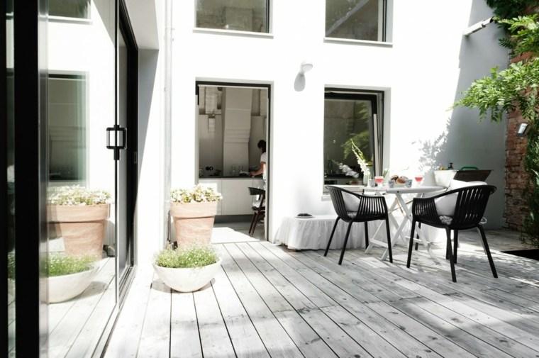 muebles paraiso terraza moderna mesa blanca ideas